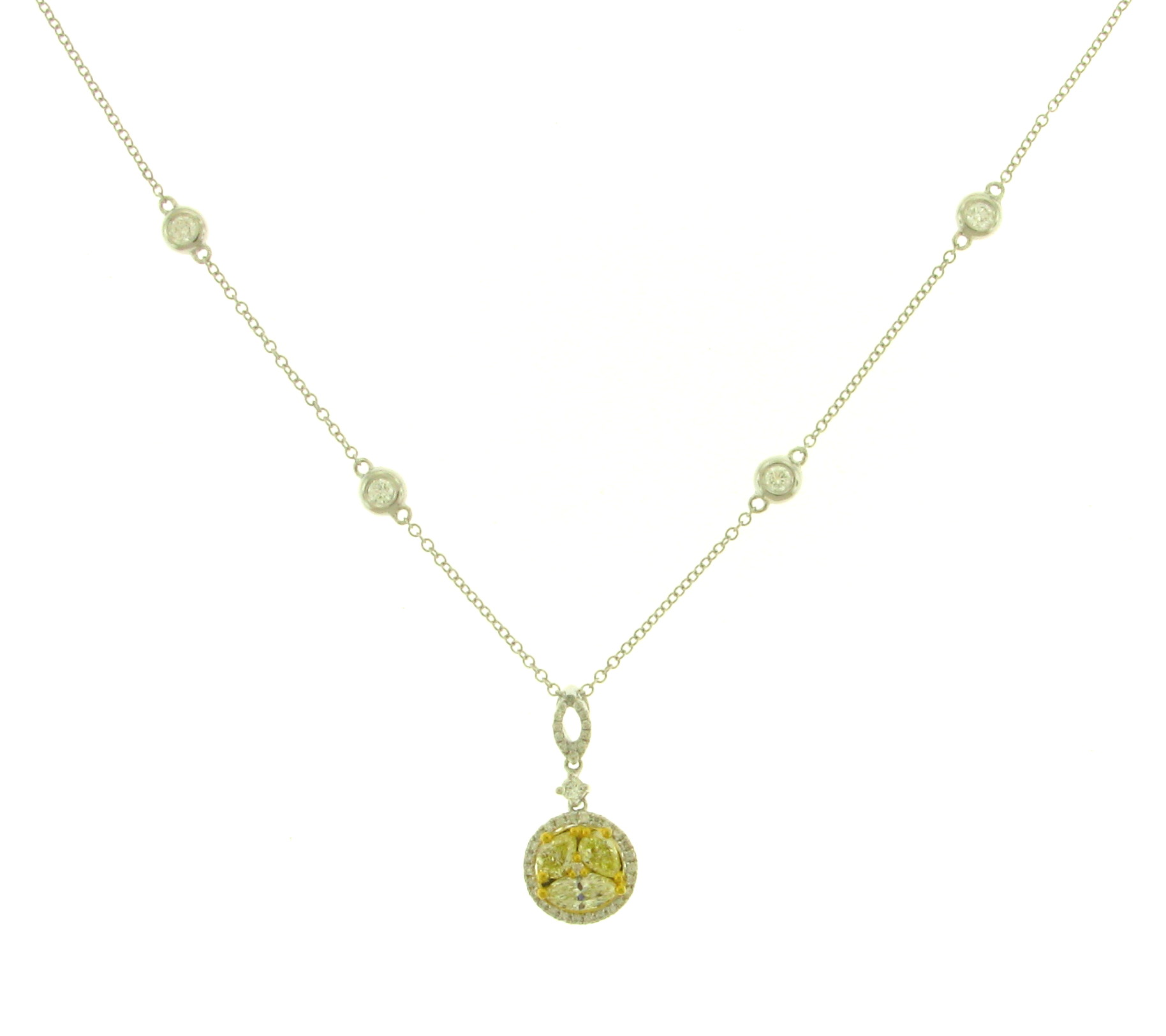NEC063059 Yellow Diamond Pendant