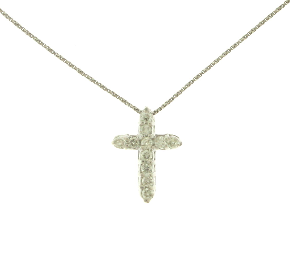 NEC063065 Diamond Cross Pendant