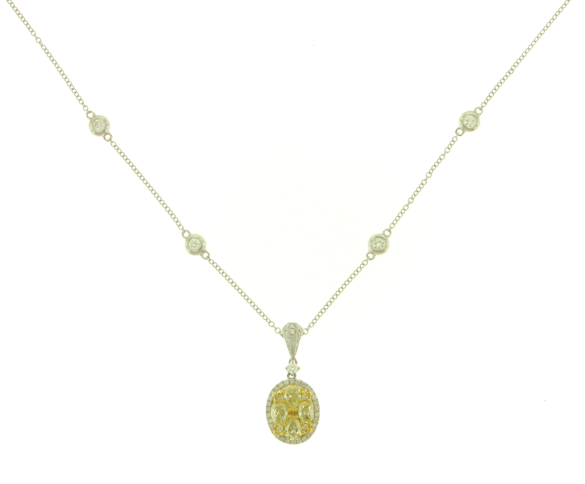 NEC063060 Yellow Diamond Pendant